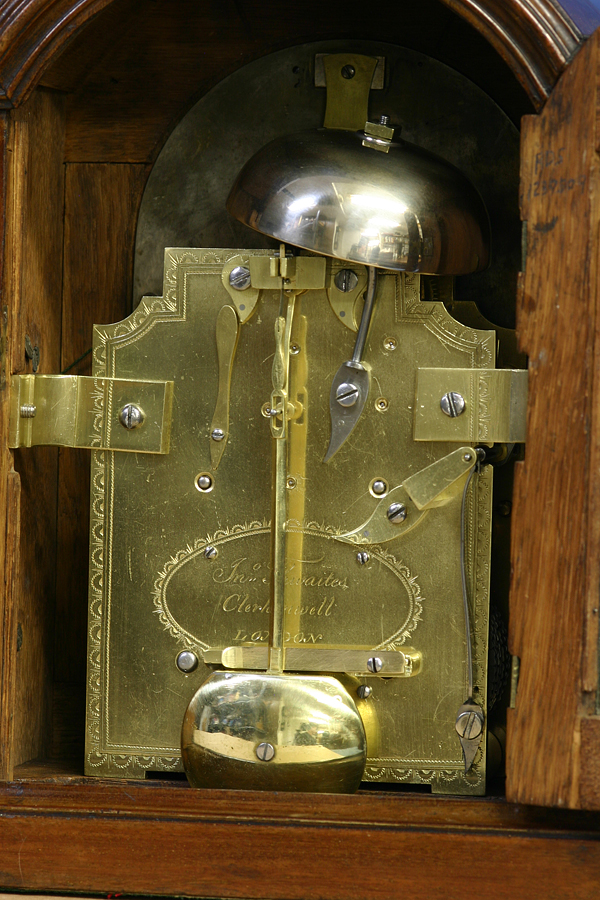 C 1803 Small English Mahogany Bracket Clock Sundialfarm