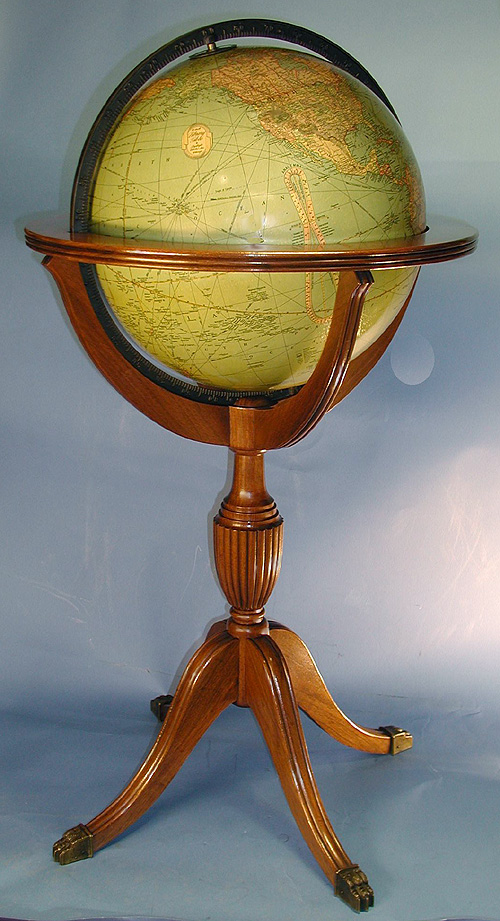 c.1935 American 16-inch Library Globe by Replogle, Chicago