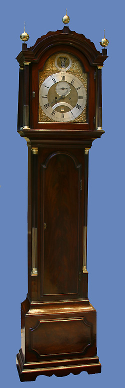 c.1785 English Mahogany Tallcase Clock, William Bull, Stratford