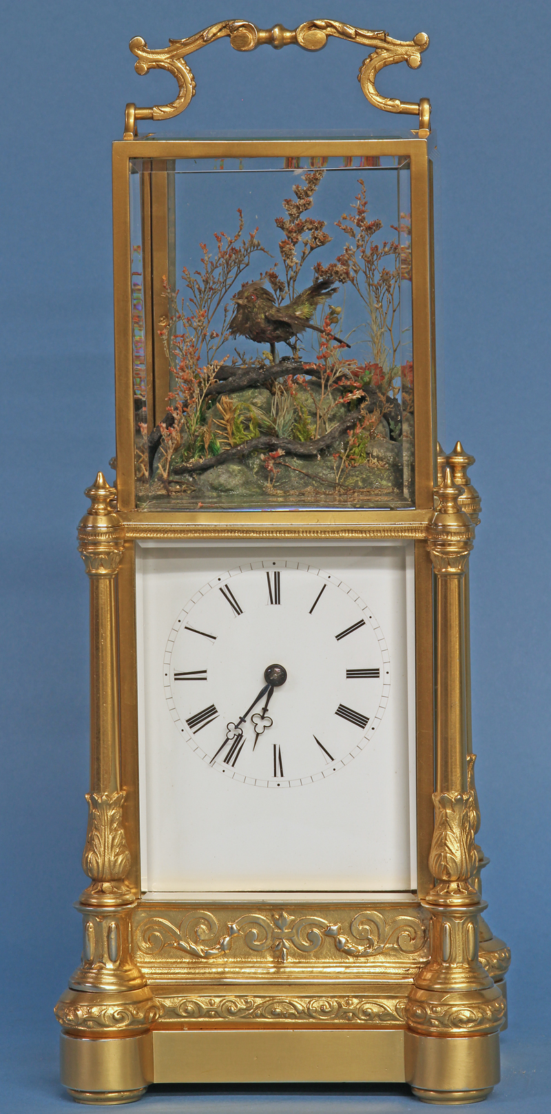 Automated Singing Bird Carriage Clock