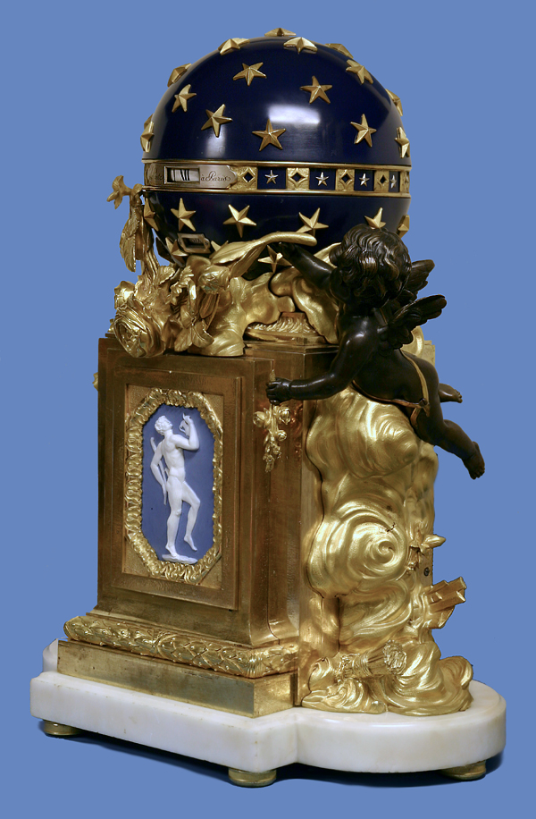 C 1775 French Ormolu Patinated Silver Bisque And Marble