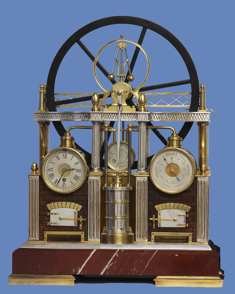 Industrial Steam Engine Clock