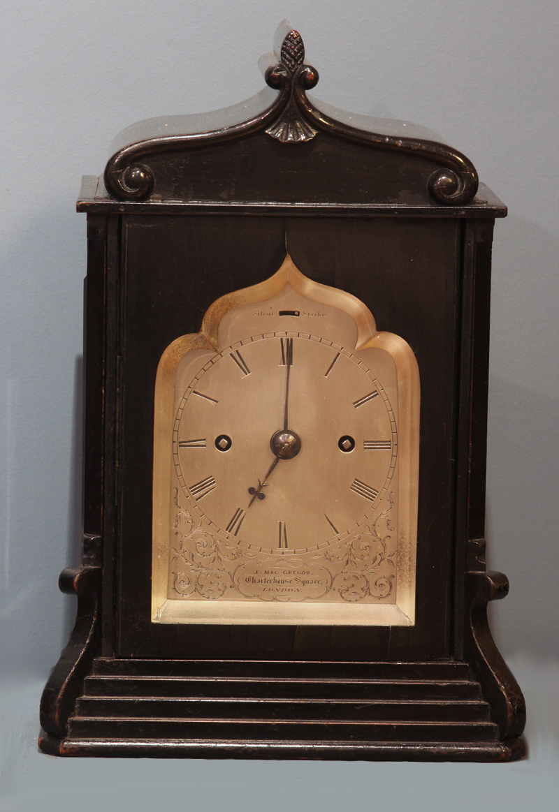 Small English Ebonized Bracket Clock.