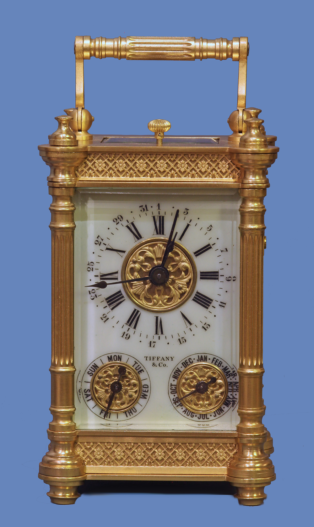 Calendar Carriage Clock