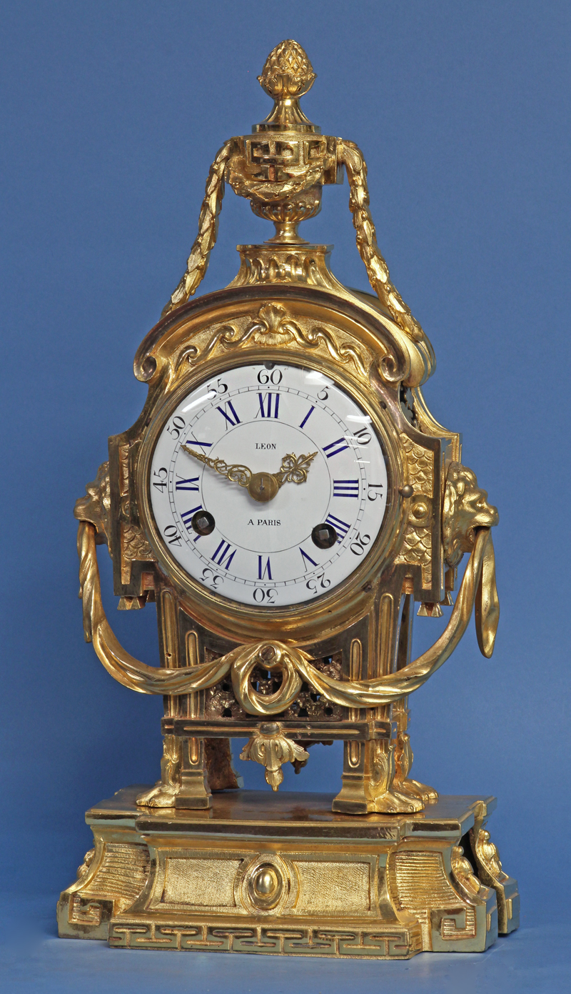 Early Louis XVI French Ormolu Mantle Clock.