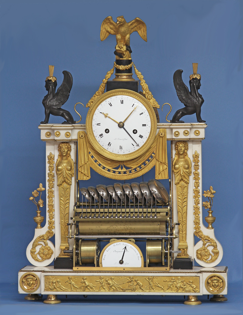 Rare Louis XVI Musical Mantle Clock