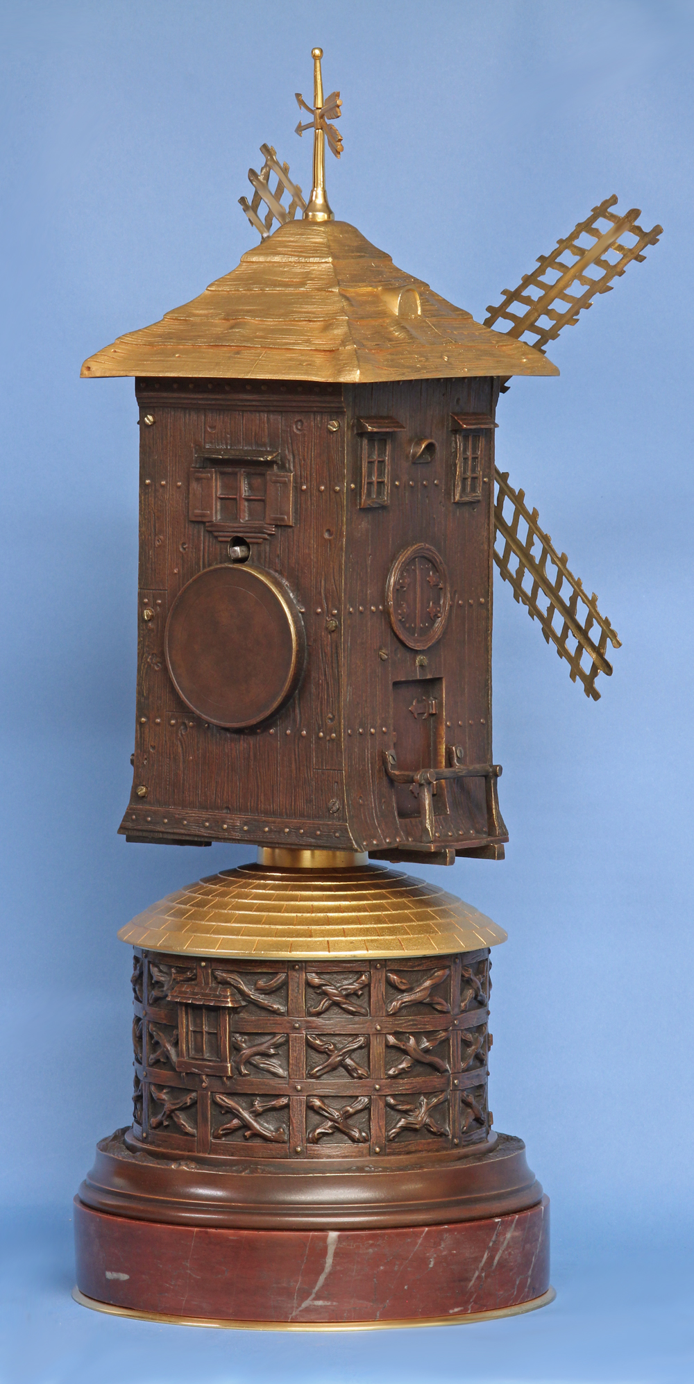 French Animated Windmill Clock.