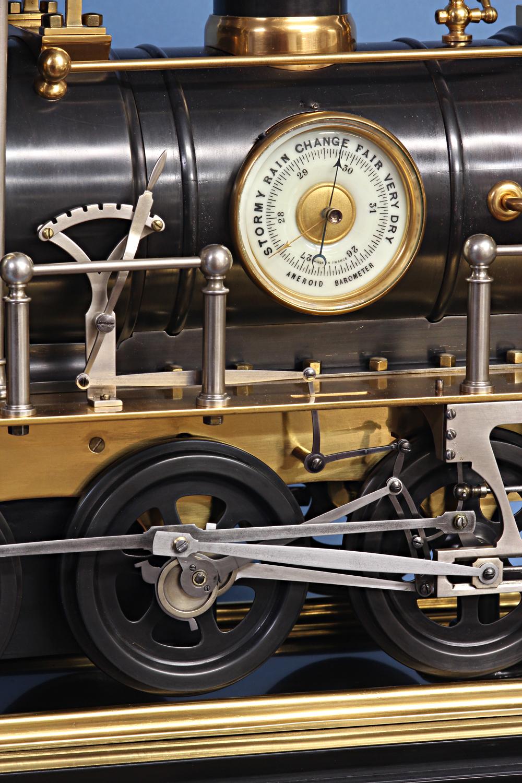 C 1895 French Animated Locomotive Clock Sold Sundialfarm
