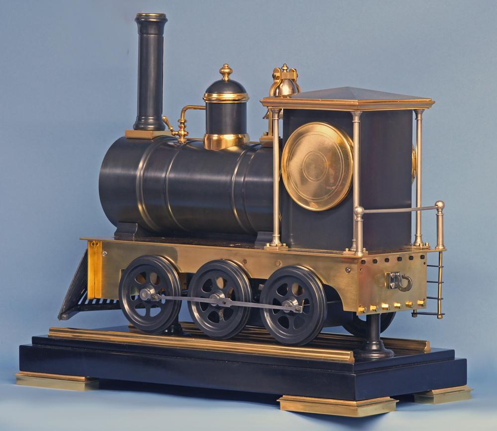 19th century French animated locomotive clock.