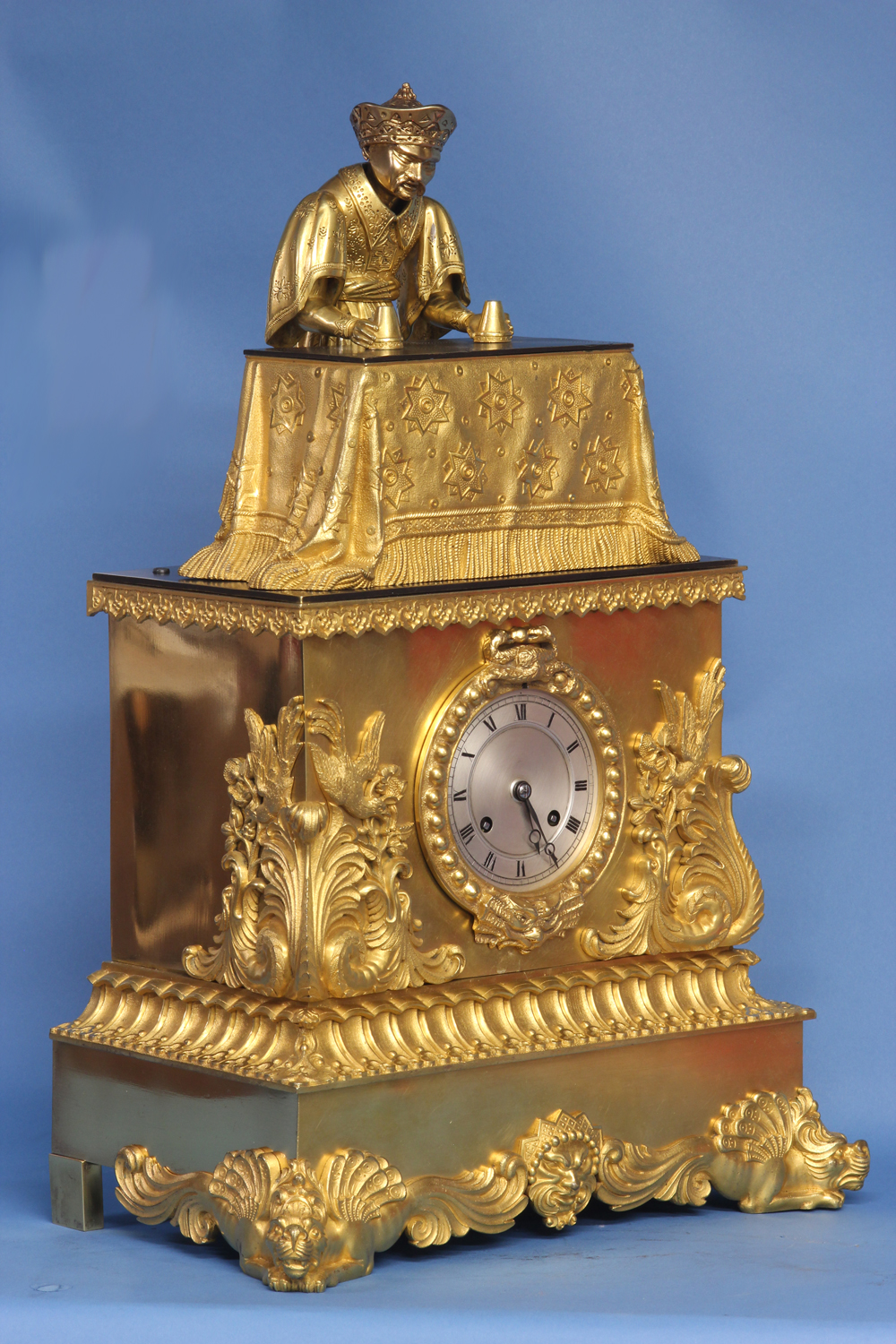 c.1840 French Animated Conjuror Clock by J.F. Houdin