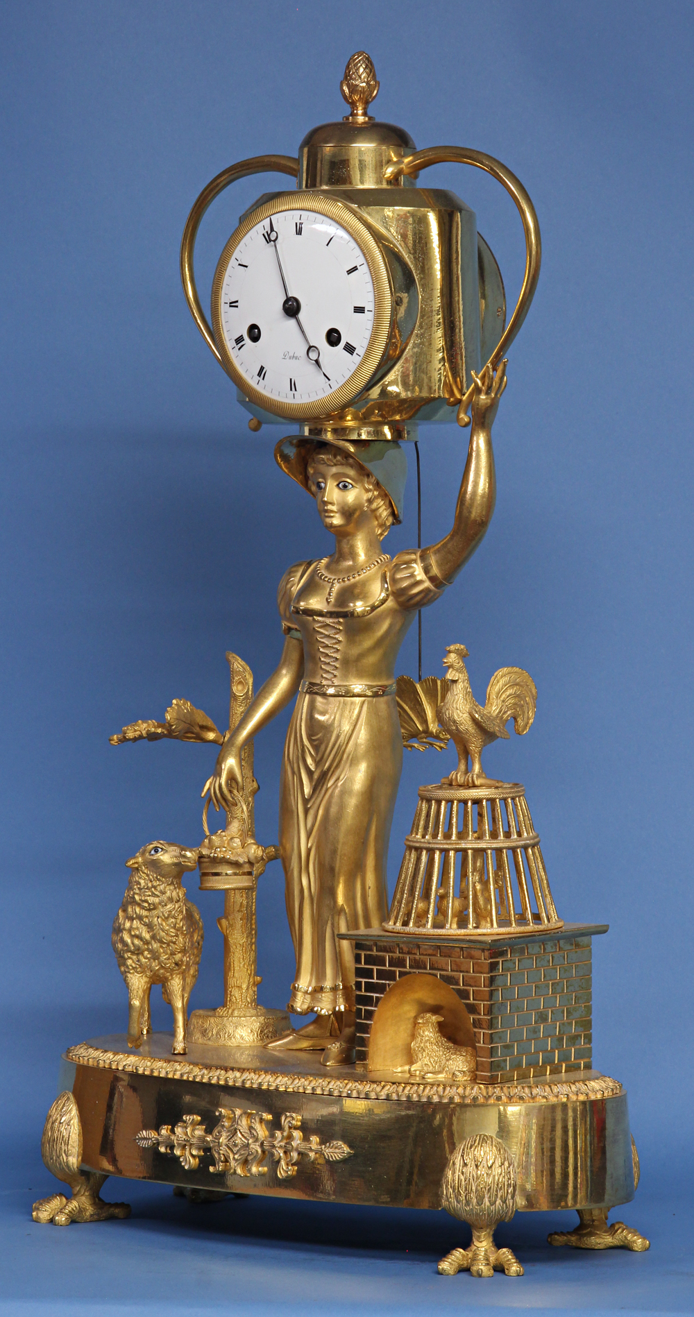 Early 19th Century Figural Mantle Clock by Dubuc.