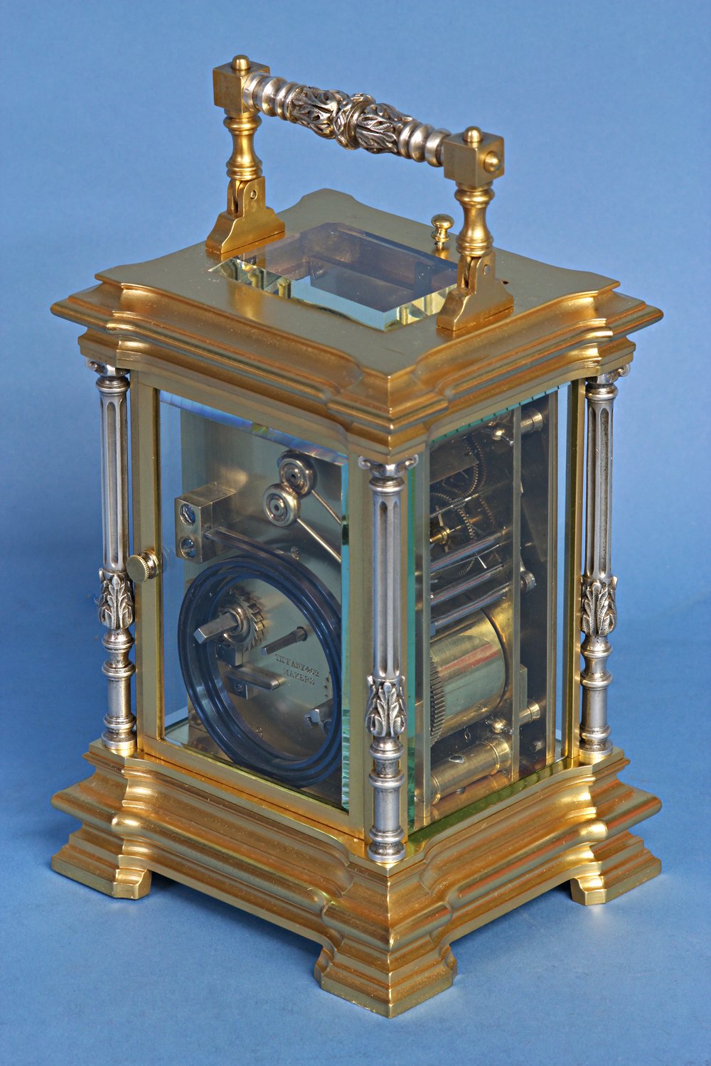 c.1885 Petite-Sonnerie Carriage Clock by Tiffany Makers.