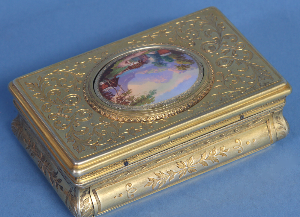 c.1845 Swiss Fusee Singing Bird Box by C. Bruguier, No. 278.