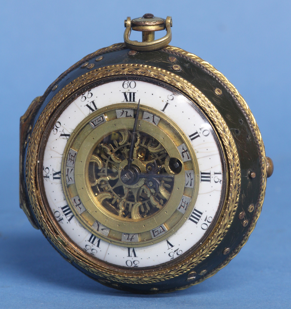 Late 18th century English and Japanese Fusee Watch.