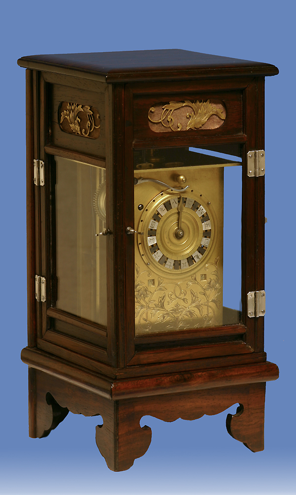 Early 19th century japanese striking lantern clock