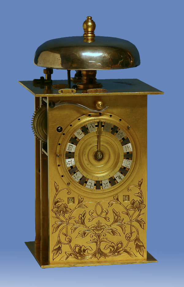 Early 19th century japanese striking lantern clock.