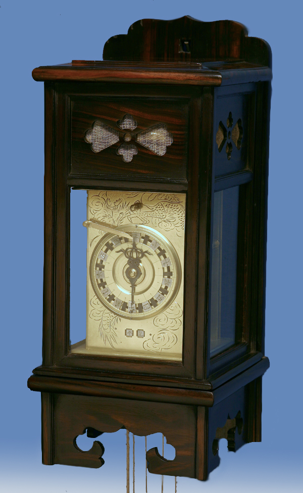 Japanese Self-Adjusting and Striking Lantern Clock.