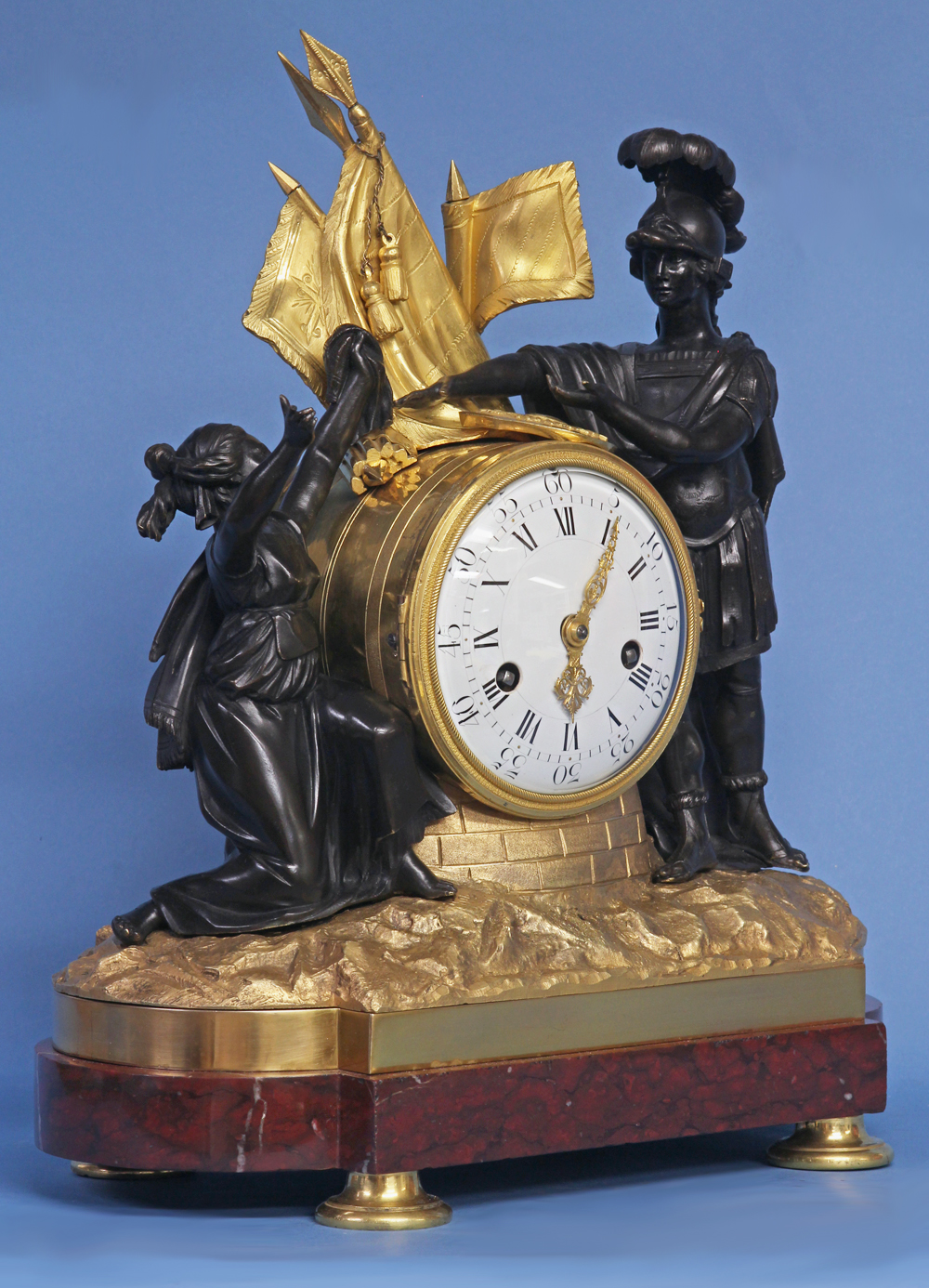 Louis XVI French Figural Mantle Clock