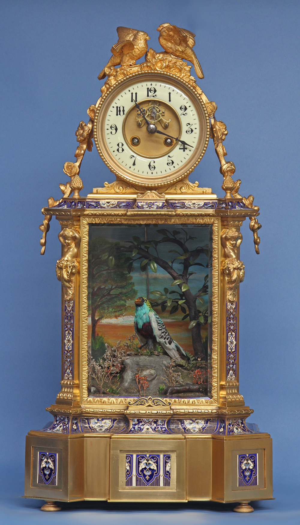 c1895 French Animated Singing Bird Clock
