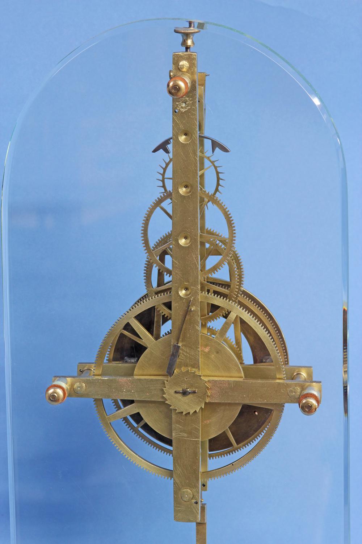 C 1850 Rare American Glass Plate Skeleton Clock Sundialfarm