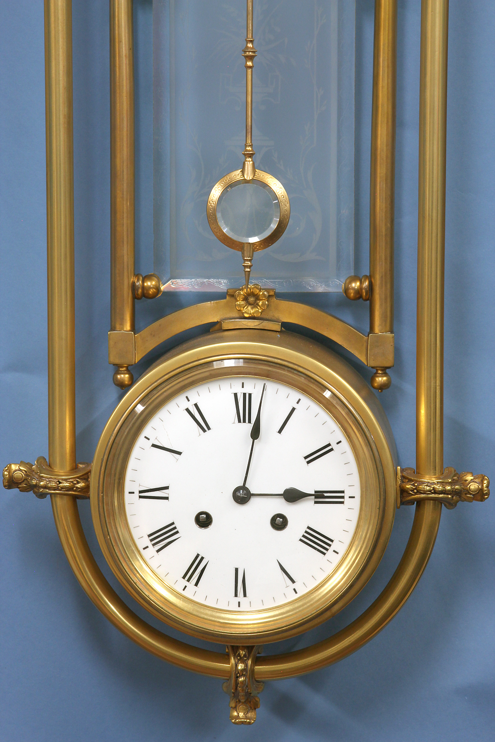 c.1875 Rare Guilmet Mystery Wall Clock.