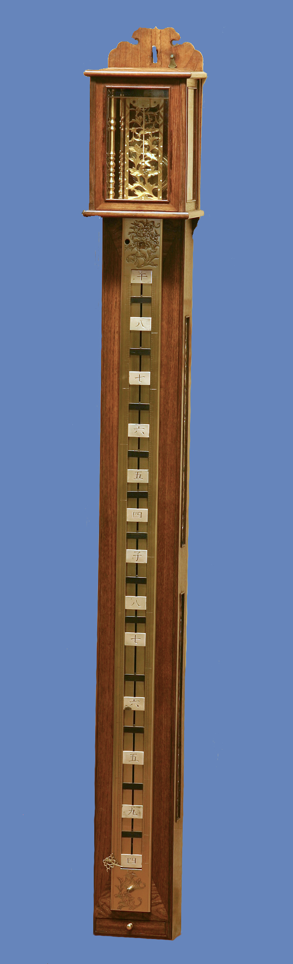 c.1850 Massive Japanese Striking Stick Clock.