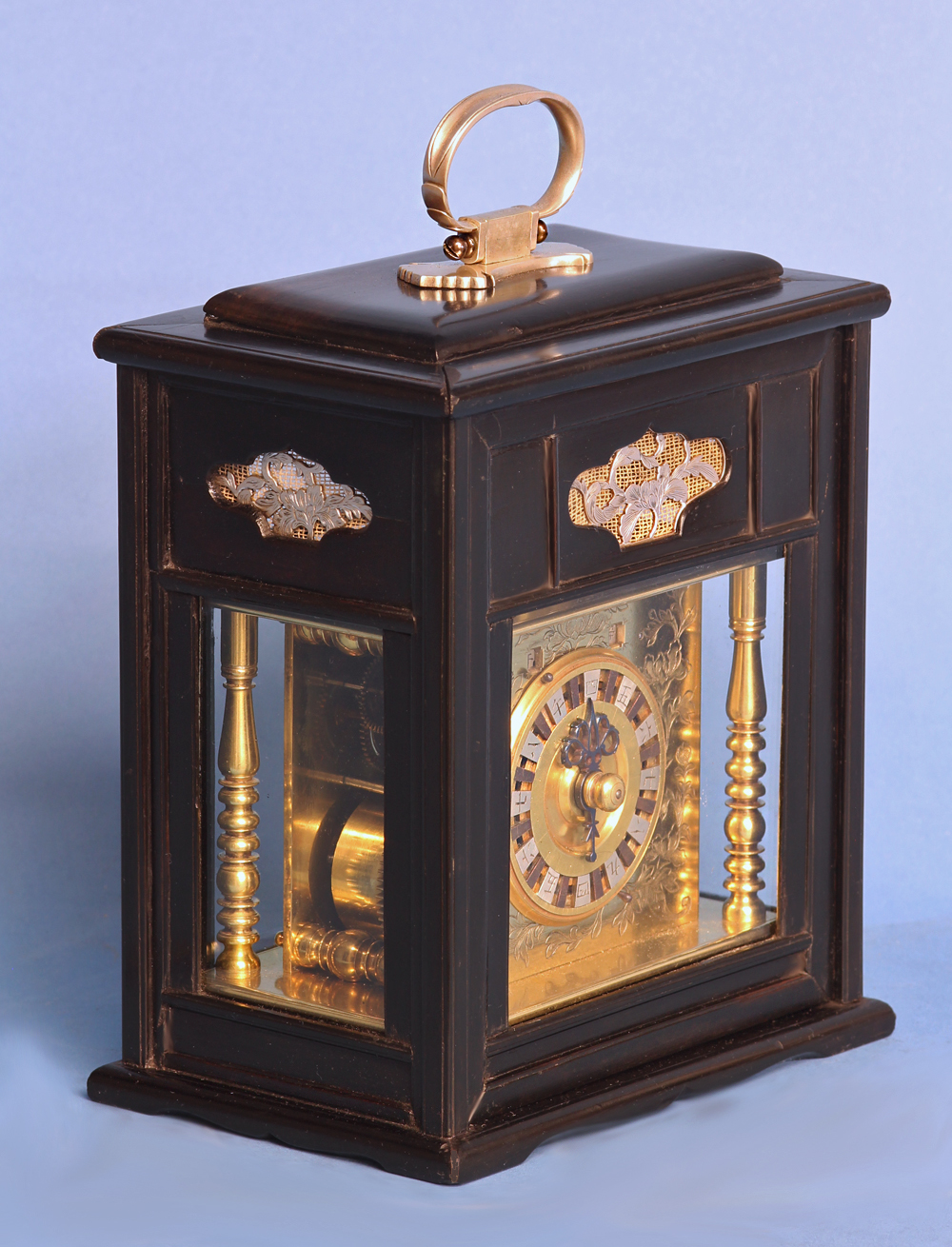 mid 19th century japanese bracket clock