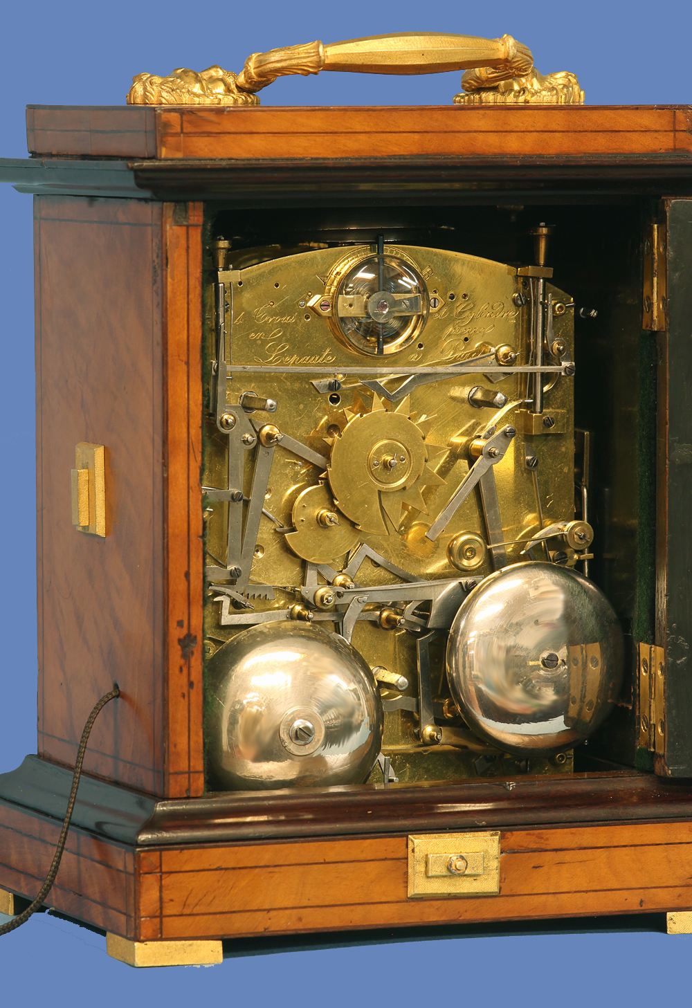 Early 19th Century Grande-Sonnerie Carriage Clock by Lepaute.