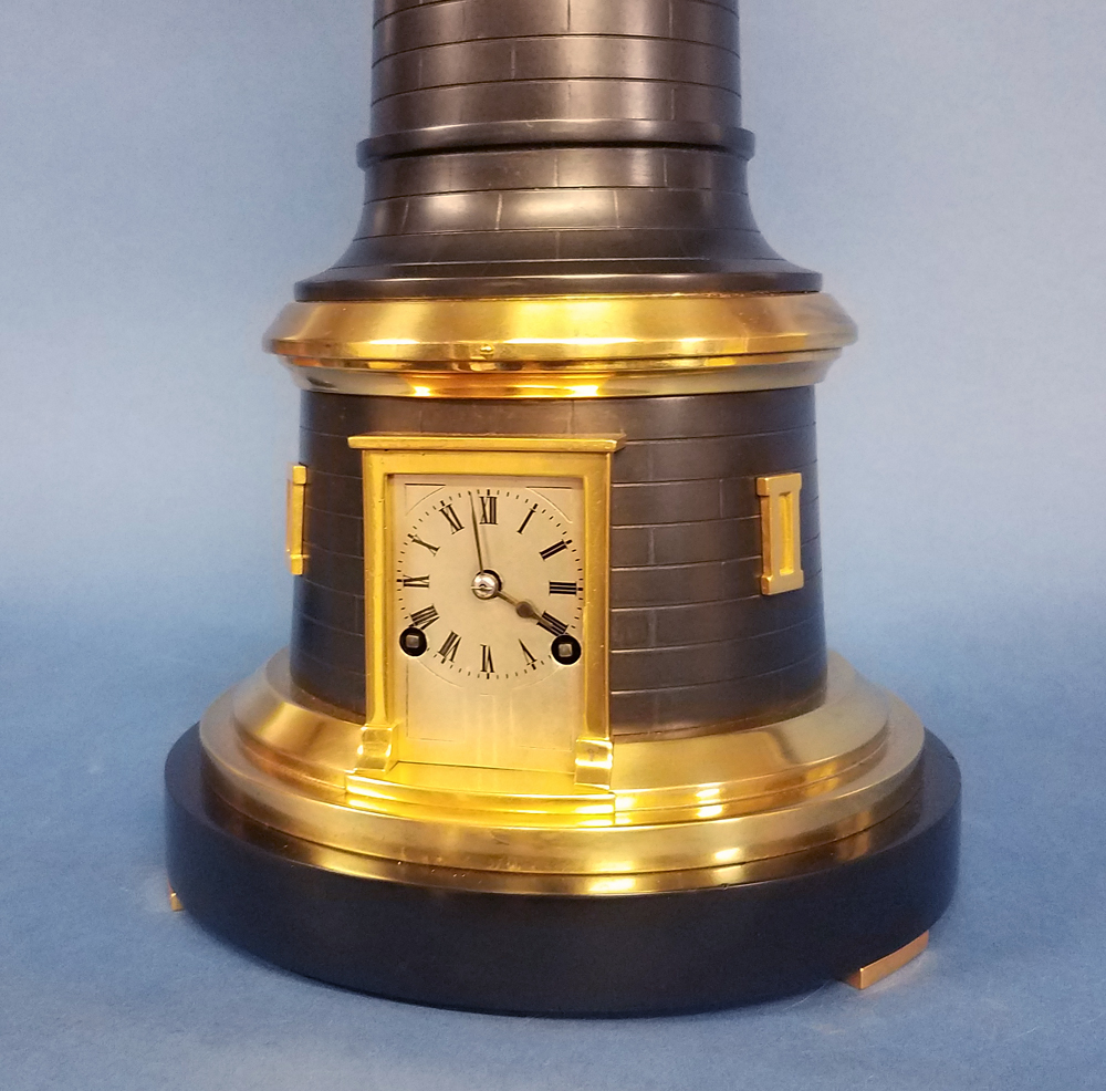 French Animated Industrial Lighthouse Clock.