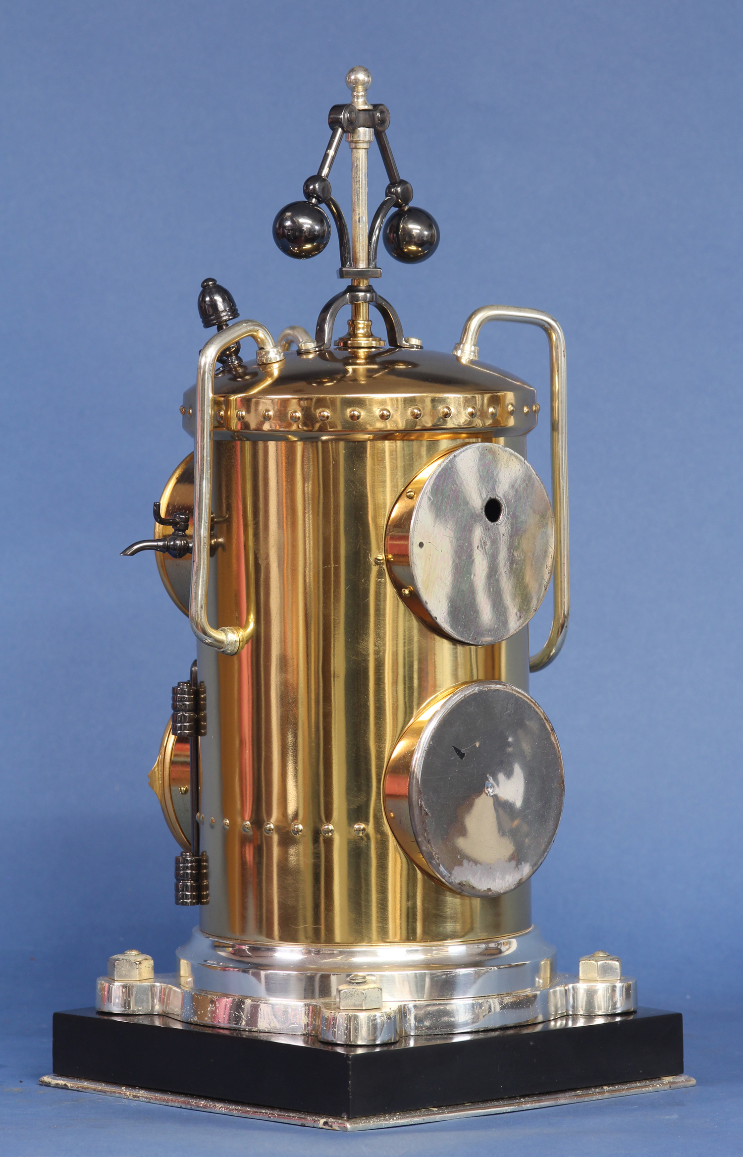 French Vertical Boiler Industrial Clock
